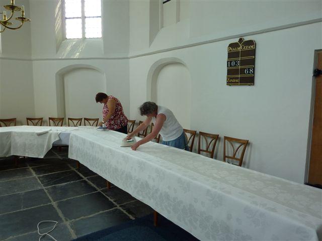 Weblog.kerk loosdrecht.damast strijken