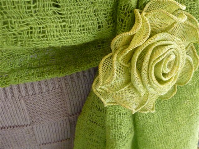 Weblog.linnen rozen, groen