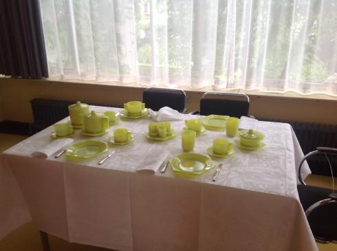 Huis Sonneveld, gedekte tafel Visschen Chris Lebeau