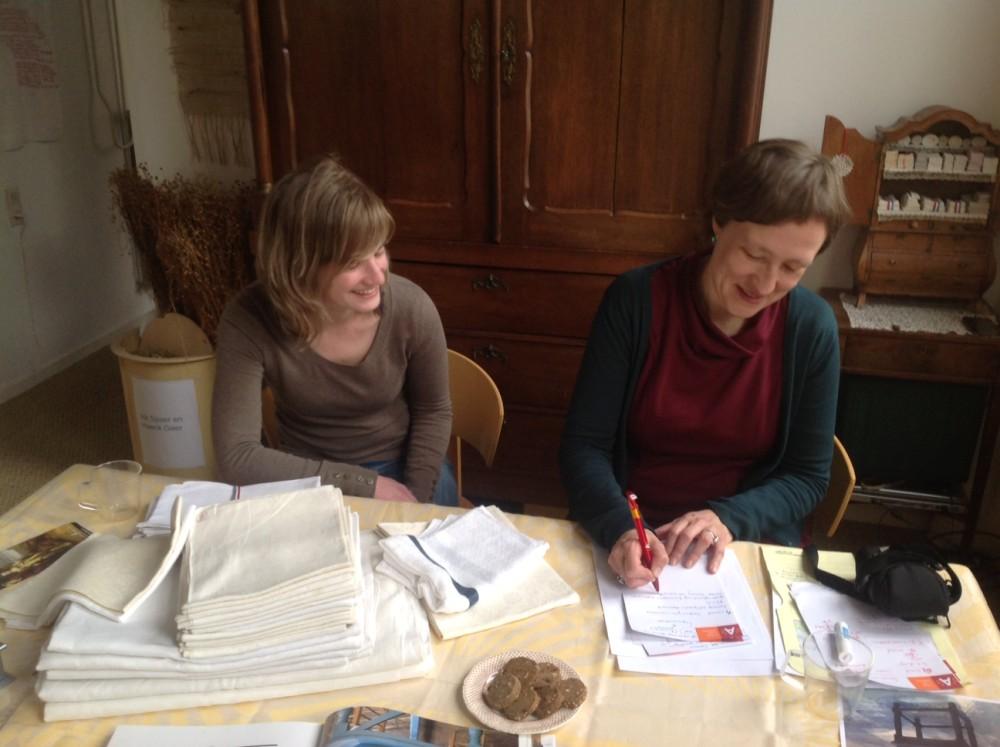 Rubenshuis linnenpers bespreking Nele en Martine